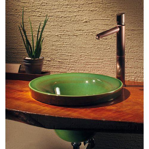 碌(ろくじゅ) 丸型手洗器//青竹 深緑(グリーン) 493-099-GR 1