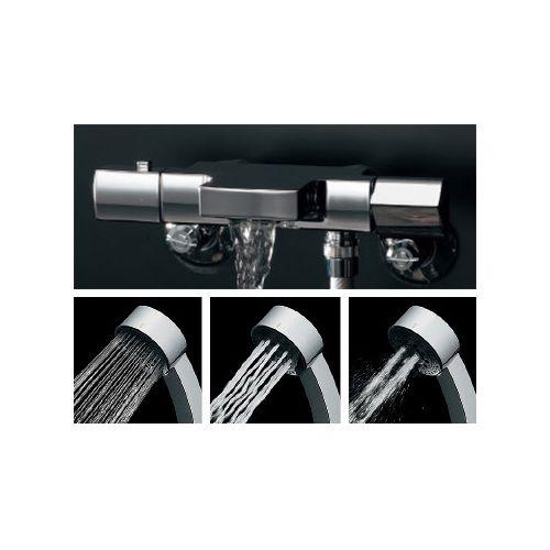 TSUKI サーモスタットシャワー混合栓 黒・メタル (173-244) 1 KAKUDAI 混合栓 シングルレバー混合栓