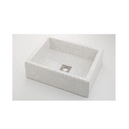 【お得】 角型洗面器 ONLINE SHOP 響(ひびき) (493-143-W):DIY 白(ホワイト) FACTORY-木材・建築資材・設備