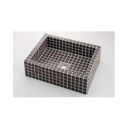 響(ひびき) 角型洗面器 グレーブラウン (493-143-GB)