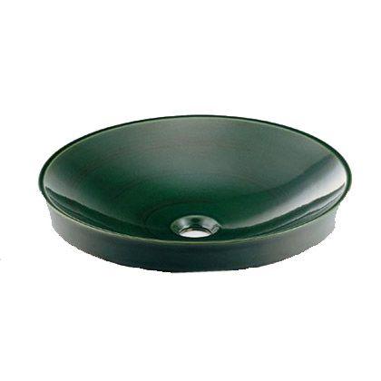碌(ろくじゅ) 丸型洗面器 青竹 (493-049-GR)