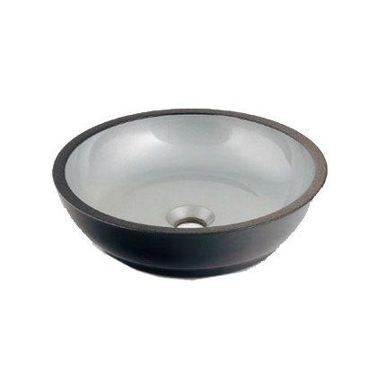 暁(あかつき) 丸型手洗器 銀砂 (493-068-S)