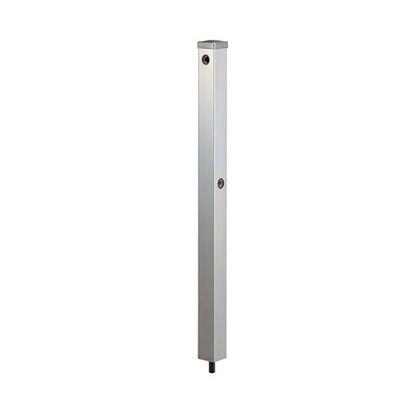 カクダイ ステンレス水栓柱(分水孔つき) クローム(メタル) 60角 (624-125)