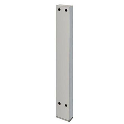 カクダイ 厨房用ステンレス水栓柱(横形水栓用) クローム(メタル) 20 (624-550-150)
