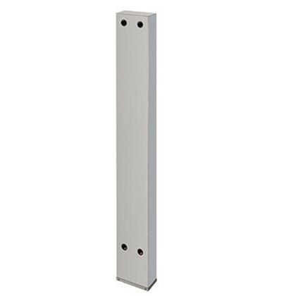 カクダイ 厨房用ステンレス水栓柱(横形水栓用) クローム(メタル) 20 624-550S-150