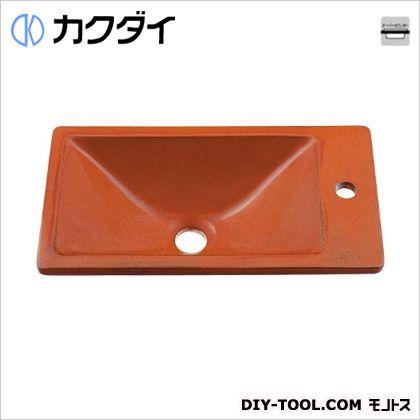 カクダイ 角型手洗器 鉄赤 493-010-R