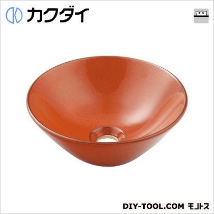 カクダイ 丸型手洗器 鉄赤 493-011-R