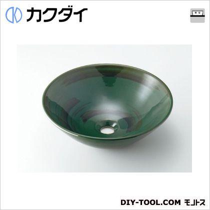 カクダイ 丸型手洗器 青竹 493-046-GR