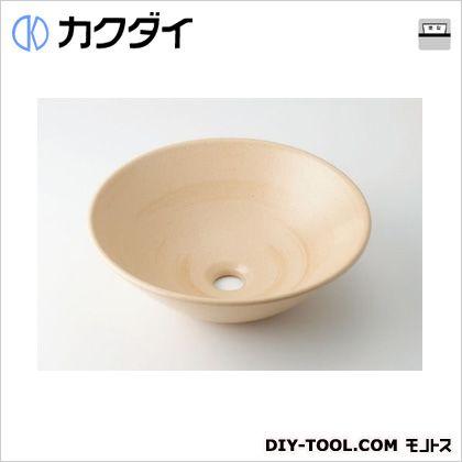 カクダイ 丸型手洗器 亜麻 493-046-CR
