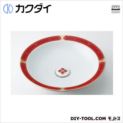 カクダイ 丸型洗面器//ルビー  493-055-R
