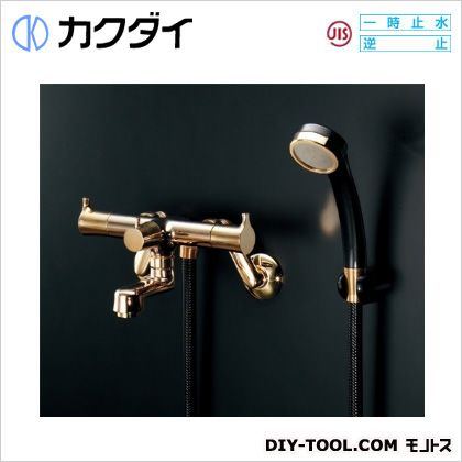 カクダイ/KAKUDAI 2ハンドルシャワー混合栓 一時止水・クリアブラス 139-020-CG