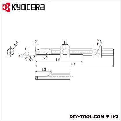 京セラ チップ TBE05255 (PSBR0707-80NBS KPD010) 金工用アクセサリー 金工 アクセサリー