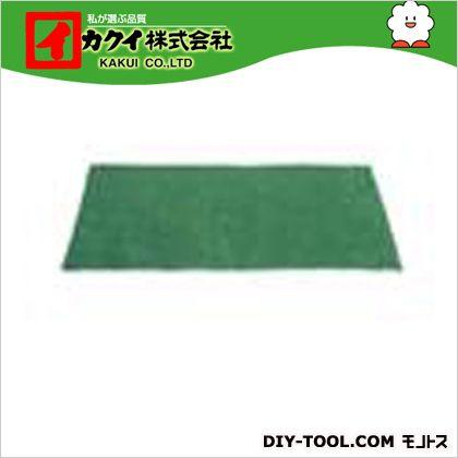 カクイ フロアマット 緑 幅×奥行×高さ:50×90×0.7cm FM-5090 50 枚
