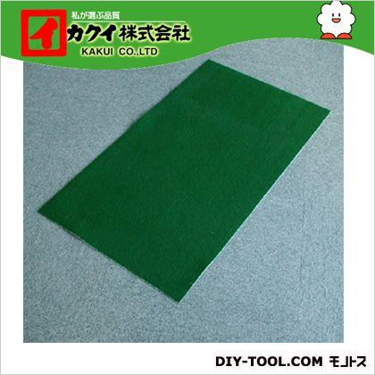 カクイ フロアマット 緑 幅×奥行×高さ:50×500×0.7cm FMR-500 10 本