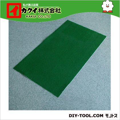 カクイ フロアマット 緑 幅×奥行×高さ:90×1000×0.7cm FMR-910 5 本