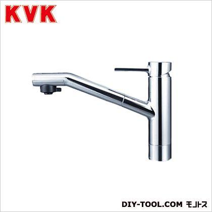 KVK 流し台用シングルレバー式シャワー付混合栓 奥行×高さ:244×618mm KM908