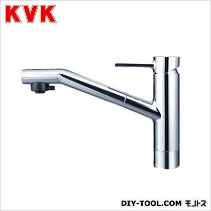 KVK 流し台用シングルレバー式シャワー付混合栓 奥行×高さ:244×618mm KM908Z