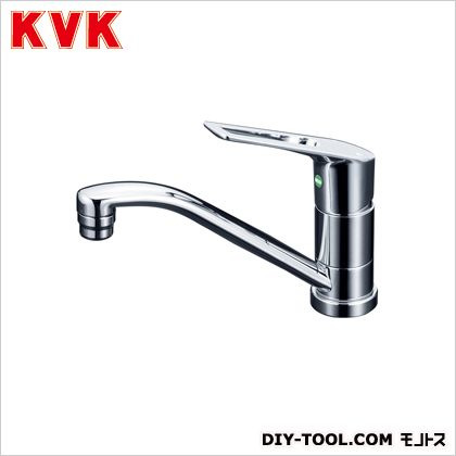 KVK 流し台用シングルレバー式混合栓200mmパイプ付 奥行×高さ:262×590mm KM5011TR2EC