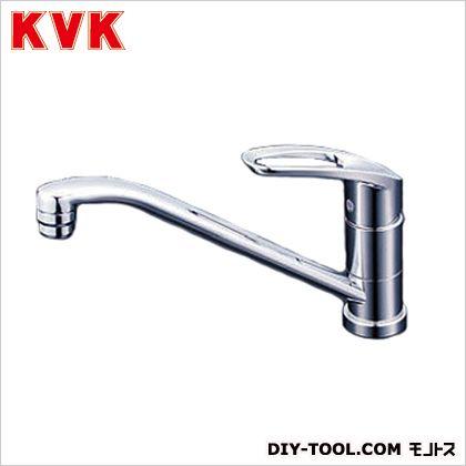 KVK 流し台用シングルレバー式混合栓 奥行×高さ:262×584mm KM5011TCK