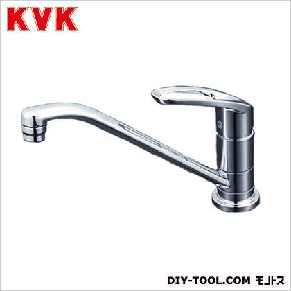 KVK 取付穴兼用型・流し台用シングルレバー式混合栓 奥行×高さ:262×590mm KM5011UT