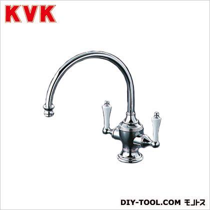 KVK 流し台用2ハンドル混合栓 幅×奥行×高さ:171×240×716.5mm KM721