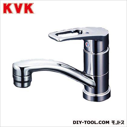 KVK 洗面用シングルレバー式混合栓・吐水口回転規制80度 奥行×高さ:140×581mm KM7011T