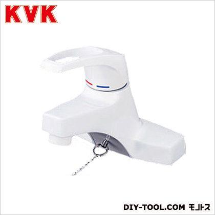 KVK 洗面用シングルレバー式混合栓・ゴム栓付 幅×奥行×高さ:142×125×209mm KM7014Z