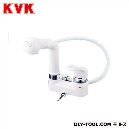 シングルレバー式洗髪シャワー・ゴム栓なし ケイブイケイ 混合栓 洗面用シングルレバー混合栓