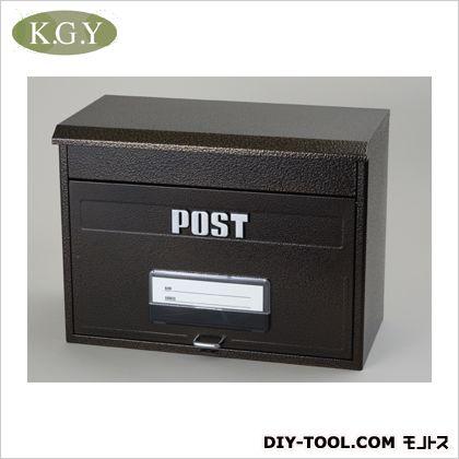 ケイジーワイ工業 どでかポスト エンボスブラウン 全幅(mm)X全高(mm)X全奥行(mm):420X315X220/重量(g):2000 SGE-4000 宅配ボックス 郵便ポスト ステンレス