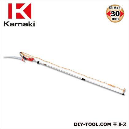 カマキ ジョイント式高枝切鋏アルミポール3m 全長1.4~3.0m #1030-DXA