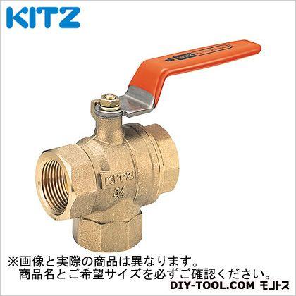 KITZ 黄銅製Tボールバルブ(三方) (TV2L2B[50A])