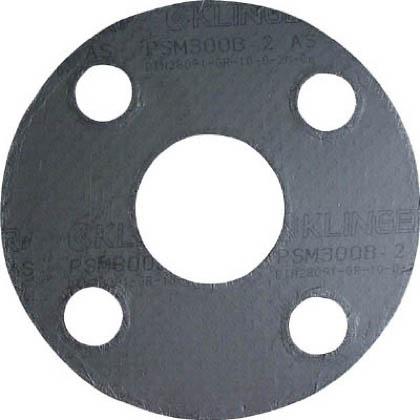 クリンガー 膨張黒鉛ガスケット(ステンレス爪付鋼板入り) 5枚入り 1袋 PSM10K80A