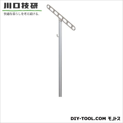 川口技研 自立型ホスクリーン アーム:ステンカラーポール:シルバー JS-85-SST 1セット (2本入り)