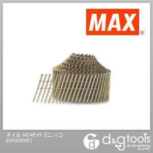 マックス ワイヤ連結釘 スクリュ (NS45V1 ミニバコ) 400本×10巻×4箱