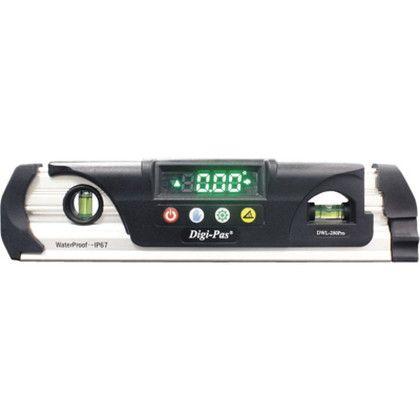 防水型デジタル水平器 230×60×28mm DWL-280Pro