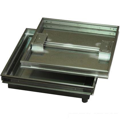 水上金属 ファースト ステンレス フロアーハッチ モルタル用防水・防臭、歩道用 蓋寸W450×D450mm FMW-450