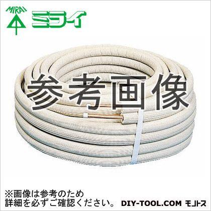 未来工業 エアコンチューブ (冷・暖兼用のエアコン配管用被覆銅管) アイボリー (BWG-2023)