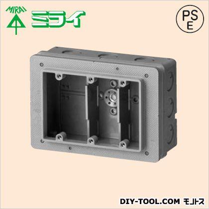 未来工業 埋込スイッチボックス3個用大深形(塗代カバー付)  CSW-3N65PS3 20 ヶ