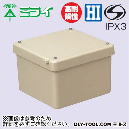 未来工業 強化プールボックス 〈FRP製・防水カブセ蓋〉 ベージュ (FRP-2010B)