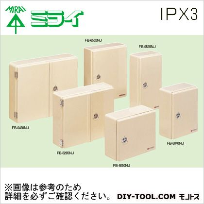 未来工業 強化ボックス (FRP樹脂製防雨常設ボックス)屋根無〈タテ型〉  FB-6552NJ