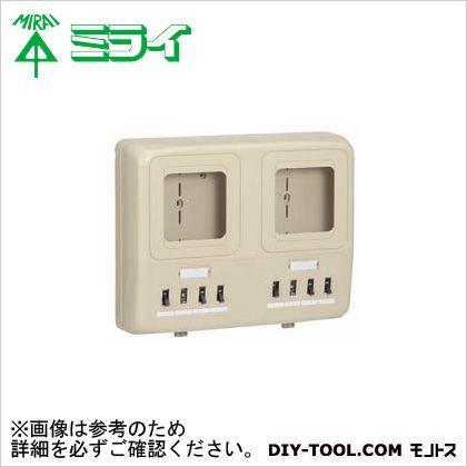 未来工業 電力量計ボックス〈ELB付(2P30A・OC付)〉  WP2W-201KJ