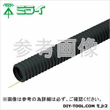 未来工業 難燃ミラレックスF (難燃性波付硬質合成樹脂管(FEP))  N-FEP-80S 30 m