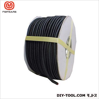 まつうら工業 丸ゴムロープ ドラム巻 黒 7mm×100m