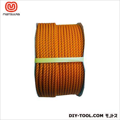 まつうら工業 PEロープ ドラム巻 オレンジ 9mm×150m