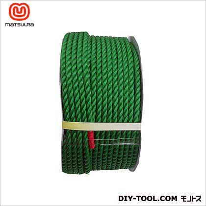 まつうら工業 PEロープ ドラム巻 緑 9mm×150m