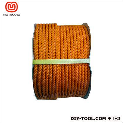 まつうら工業 PEロープ ドラム巻 オレンジ 12mm×100m