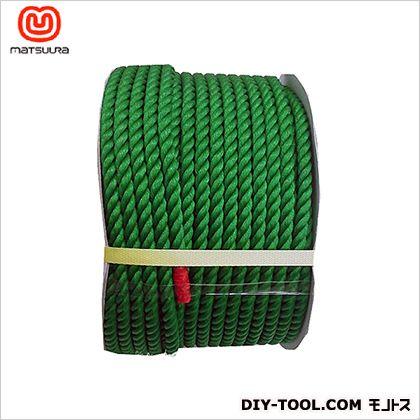 まつうら工業 PEロープ ドラム巻 緑 12mm×100m