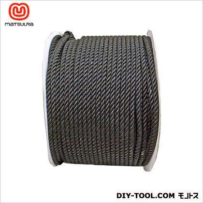 まつうら工業 綿ロープ ドラム巻 黒 6mm×200m