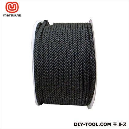 まつうら工業 綿ロープ ドラム巻 黒 9mm×200m