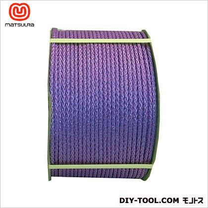 まつうら工業 PEフィルム8打(ひも)ドラム巻 紫 8mm×300m